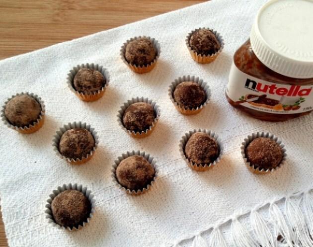 Trufas express de Nutella