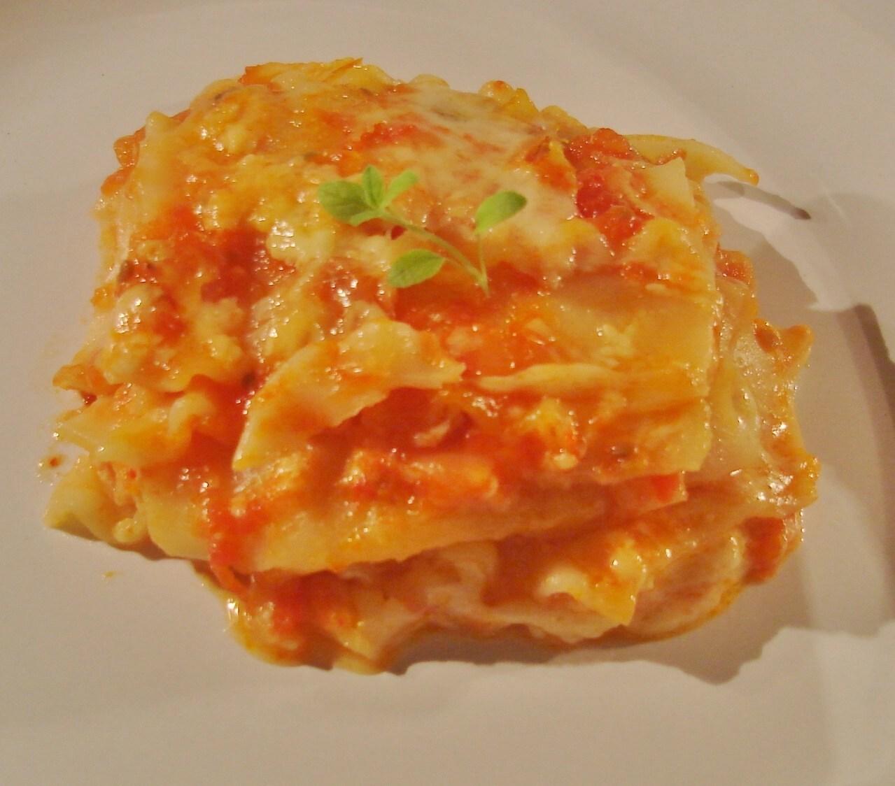 de lasanha com queijo meia cura