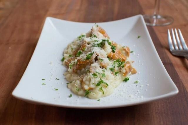 Risotto med kantareller og Taleggio – risotto ai finferli e Taleggio