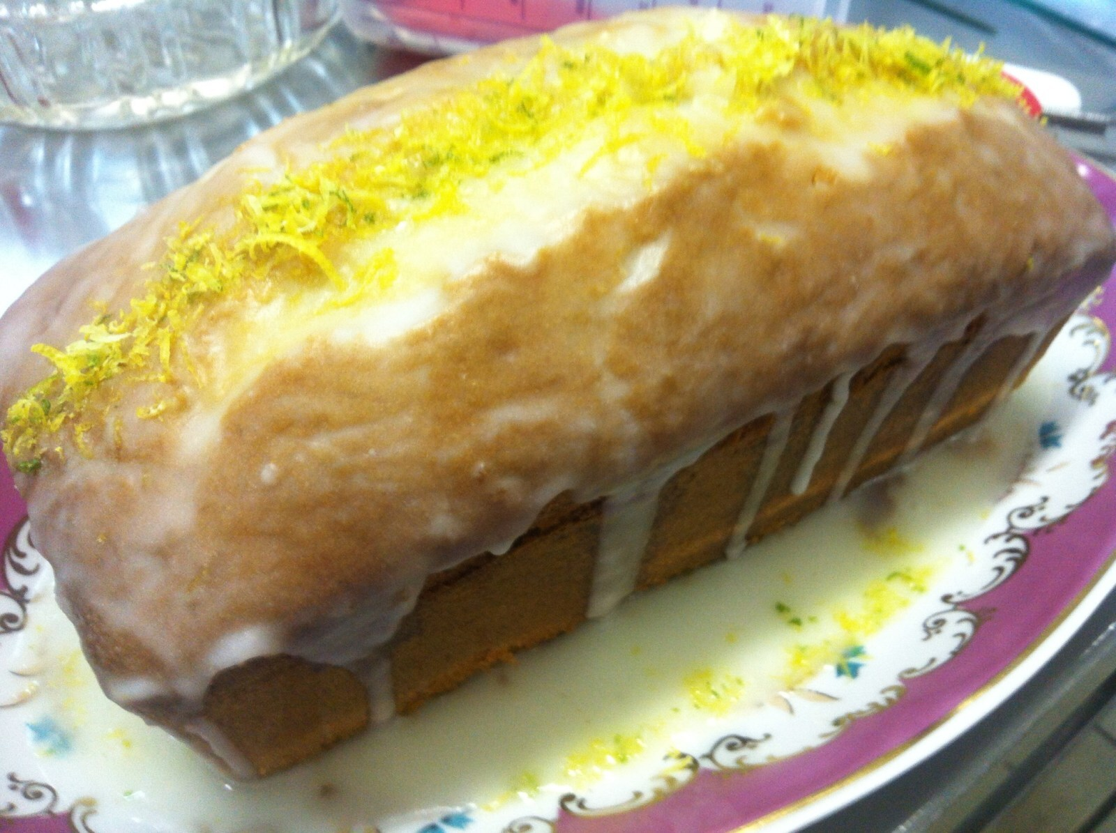 cobertura de bolo com suco de limão em pó