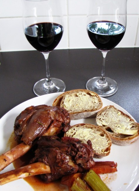 Lamb Shanks in red wine
