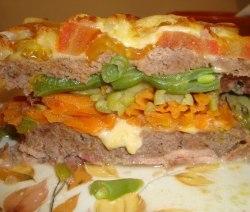 Lasanha de carne moída e legumes