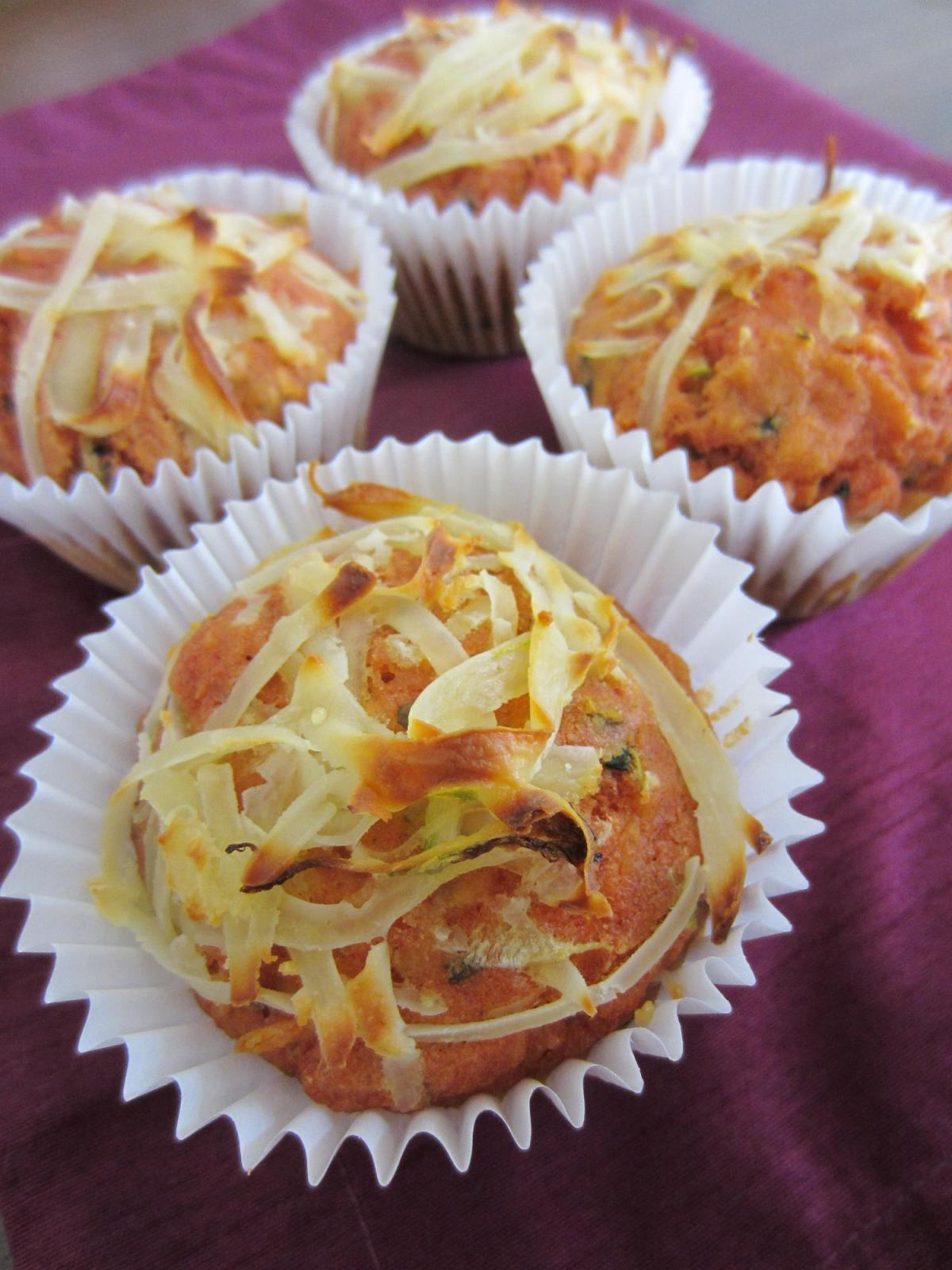 Gujarati Style Carrot and Courgette Muffins