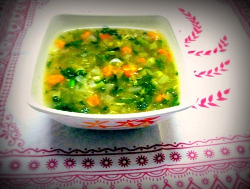 Lemon Coriander Soup Made from Scratch