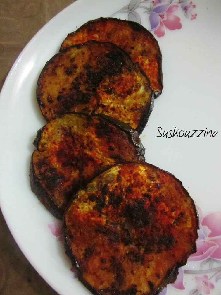 how to make brinjal fry indian