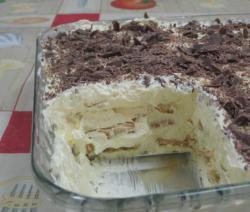 Torta de Bolacha com Creme de Manteiga da Teca