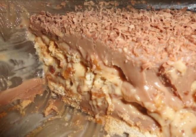 de torta de bolacha maria com pudim