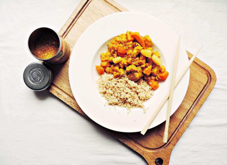 [FOOD] Couscous-Pfanne mit Hühnchen, Süßkartoffeln und Kichererbsen