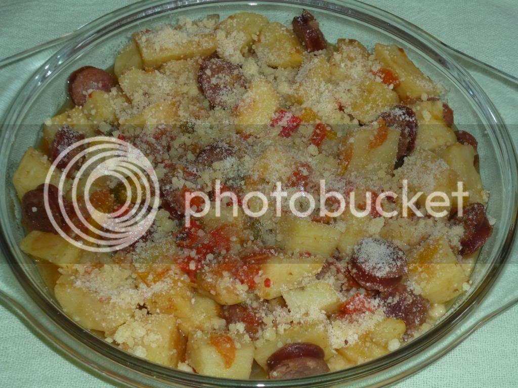 como dourar batatas cozidas