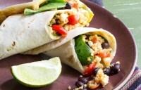 Vegan Quinoa-Black Bean Wraps & Hummus