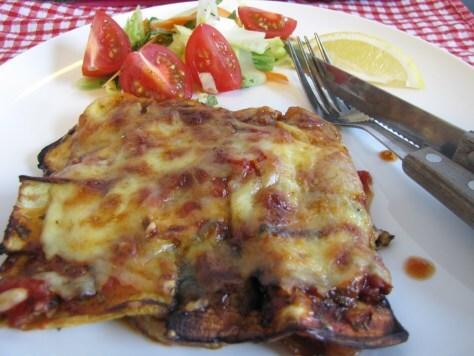 Eggplant Lasagne – a low calorie meal that hits the spot