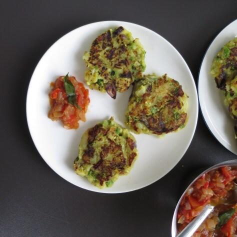 Spicy Potato and Cauliflower hash patties