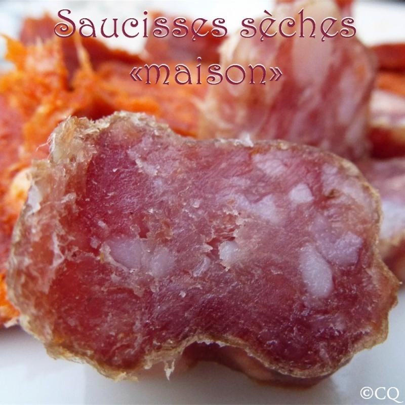 """Saucisses sèches """"maison"""" ou presque ..."""