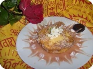 Almofadinhas com recheio de batata doce e morangos