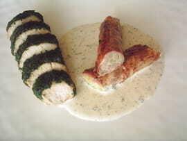 Blanc de dinde au persil, crépinette d'asperge
