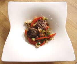 Couscous en salade, souris d'agneau confites