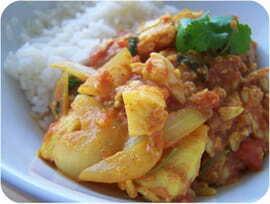 Pavés de cabillaud au curry