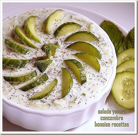 salade libanaise:au yaourt