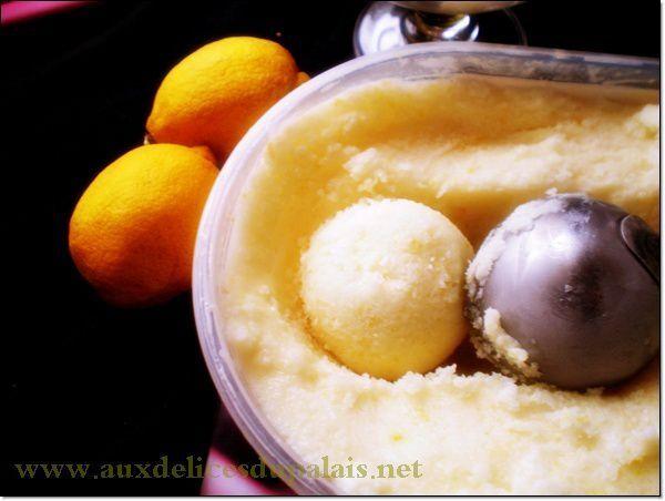 Créponné Sorbet au citron algérien (sans sorbetière)