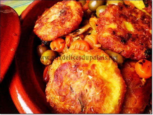 Tajine poulet aux olives carottes & champignons