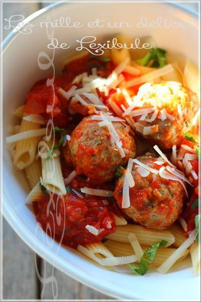~Boulettes de viande à l'italienne en sauce tomate~