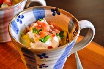 【マグカップで朝ごはん!】ベイクドドポテトが5分で美味しくできちゃう!