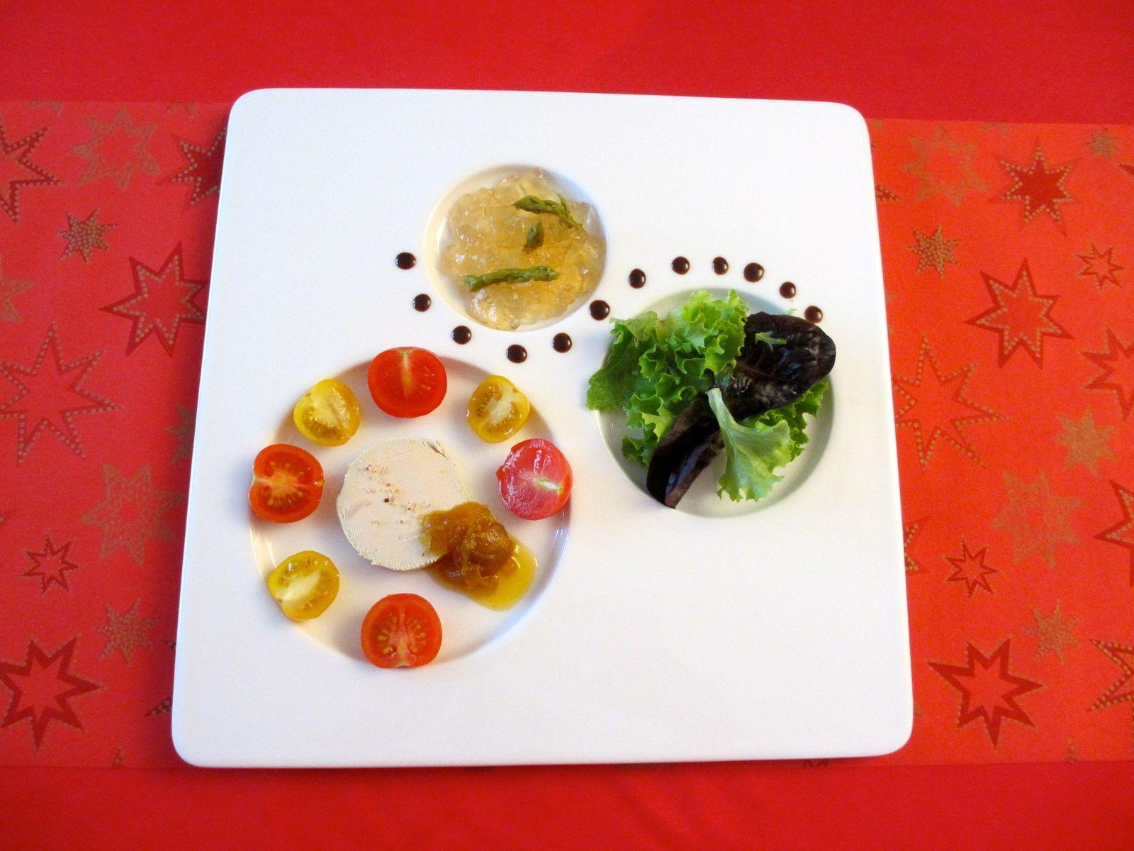 dressage assiette salade