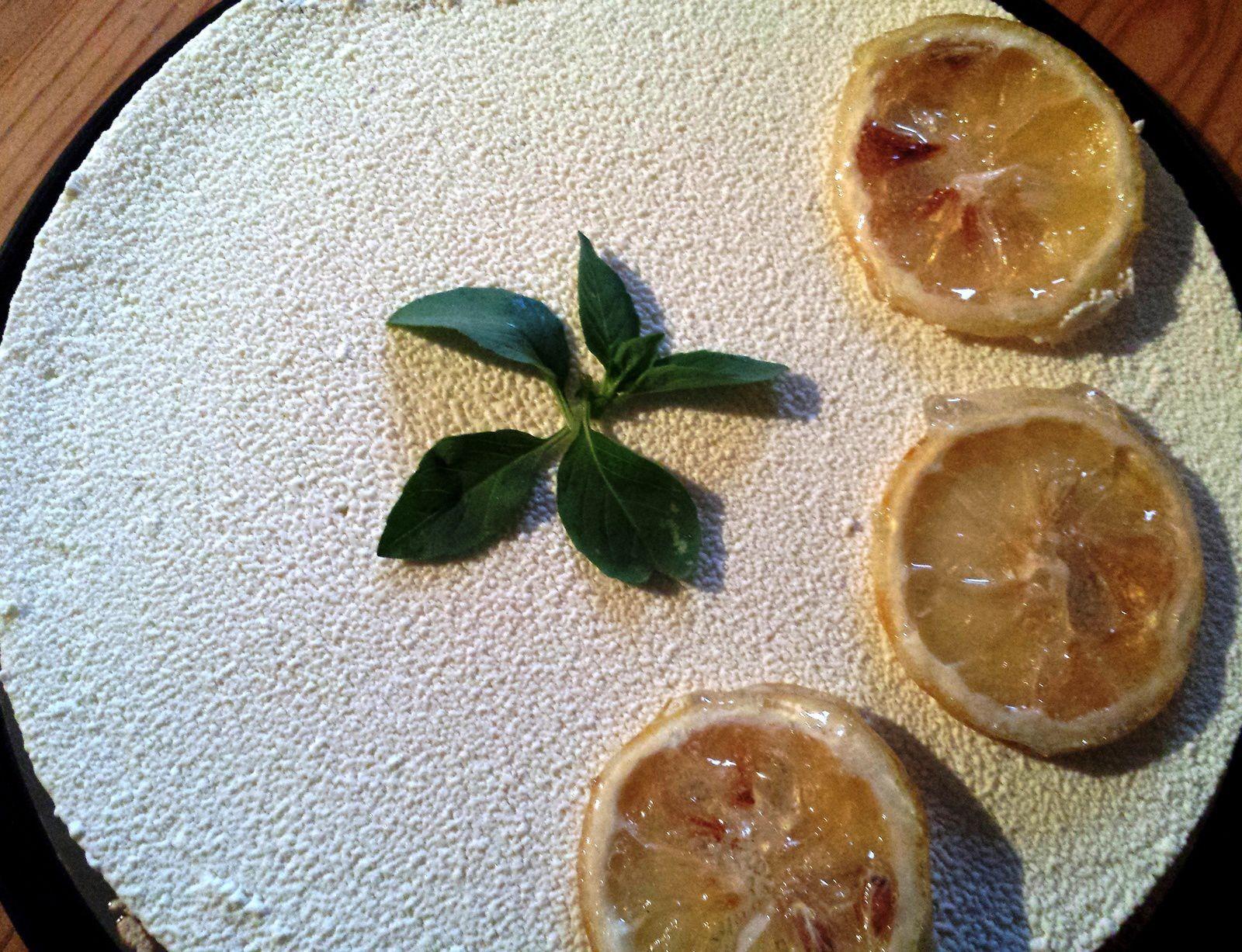 Entremets de l'été : citron, basilic, fraise et coco