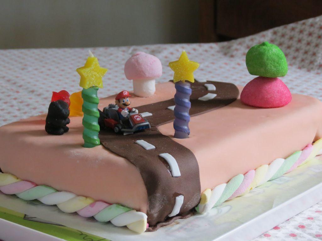 """Gâteau """"piste aux délices"""" (Mario Kart)"""