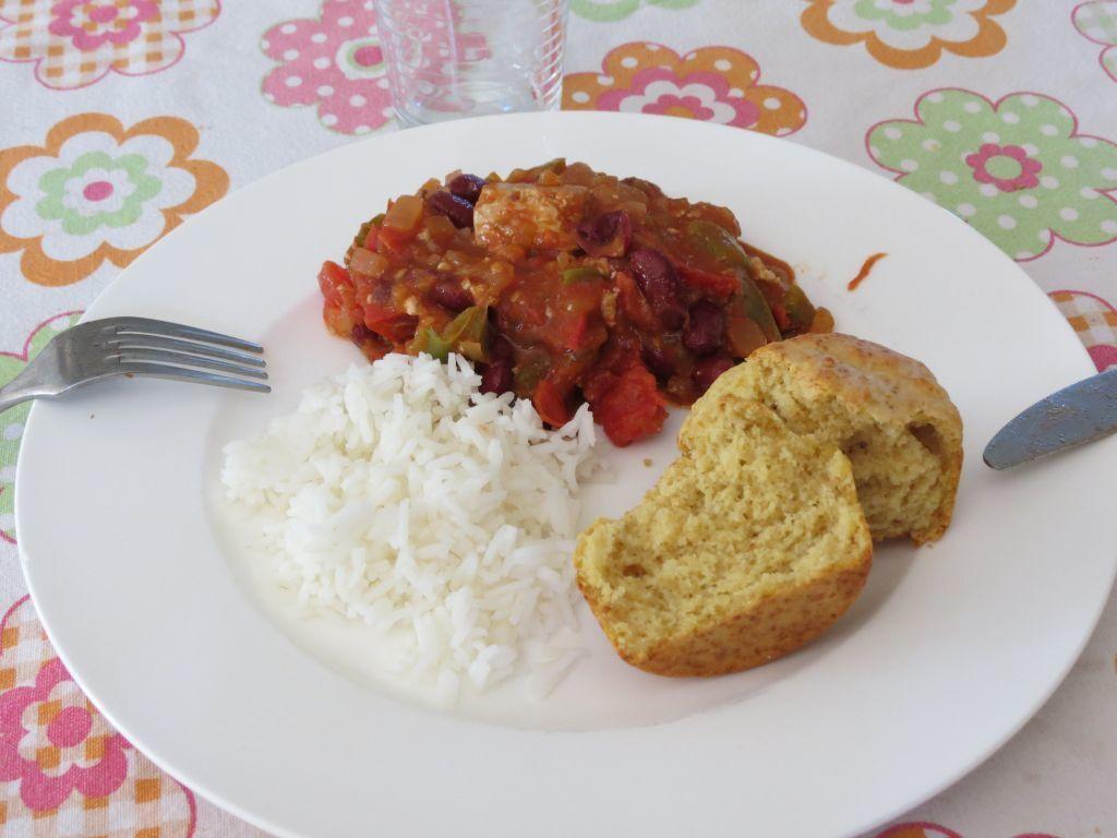 Chili sin carne... con tofu
