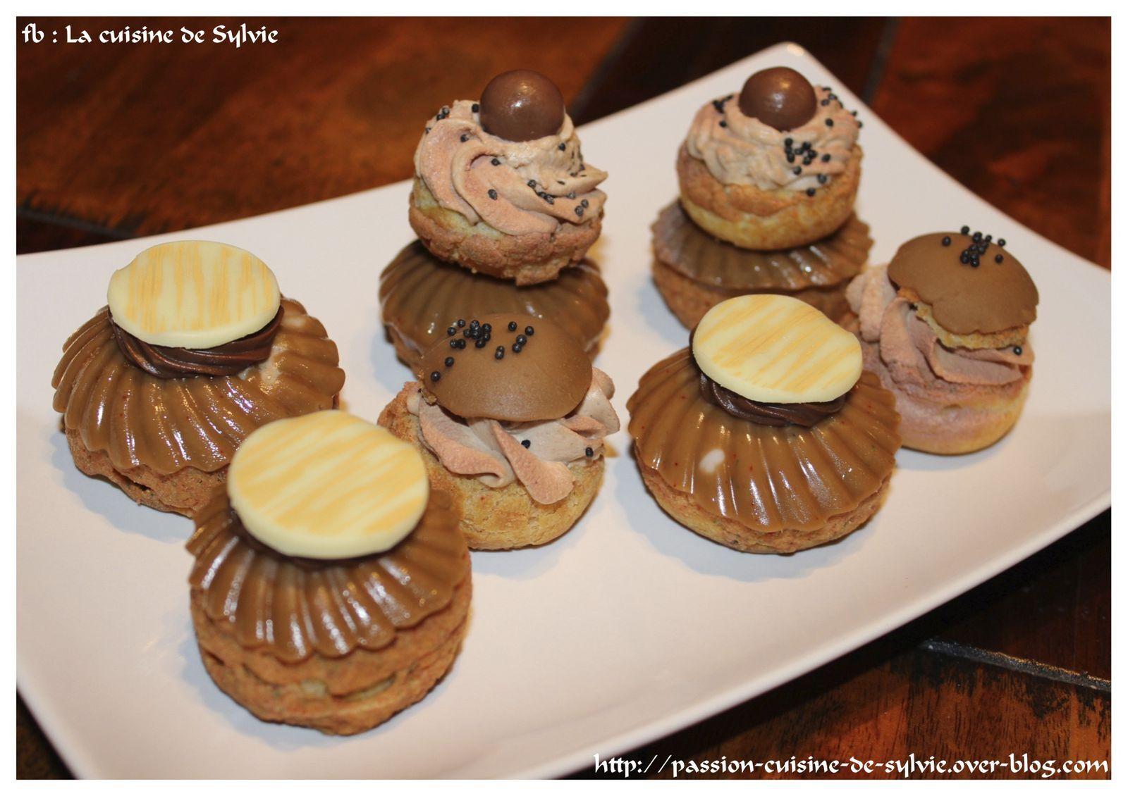 Choux à la crème chantilly mascarpone au nutella façon Christophe MICHALAK