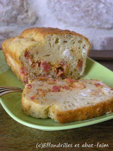 Cake chorizo, fêta et tomates confites