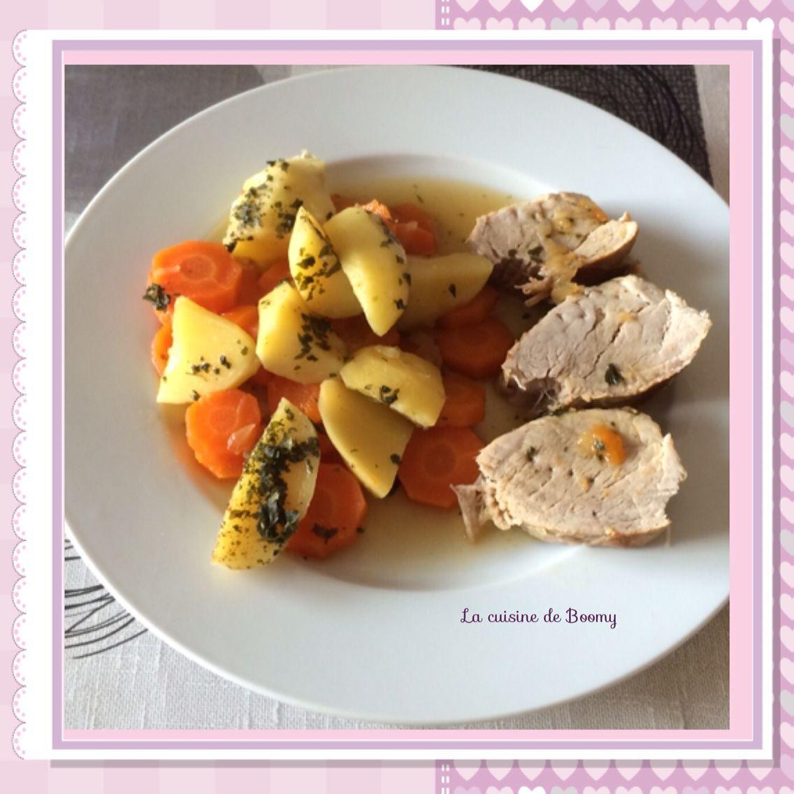 Filet mignon / pommes de terre, carottes (Cookeo)