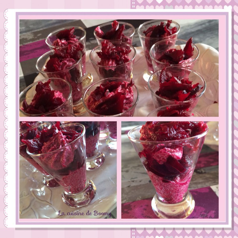 Mousse de betterave en verrine