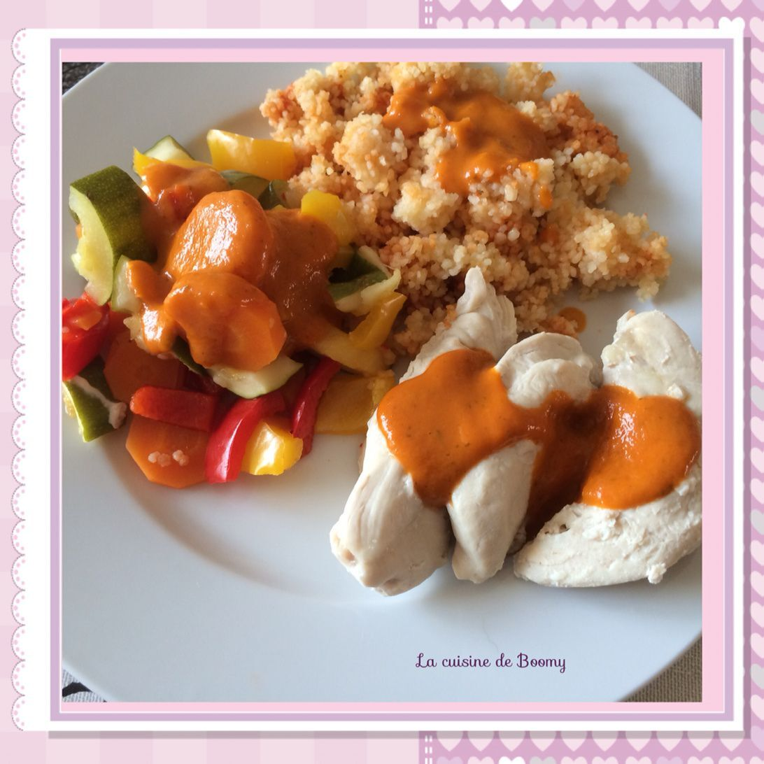 Aiguillettes de poulet aux légumes du Sud et semoule (Cook'in)
