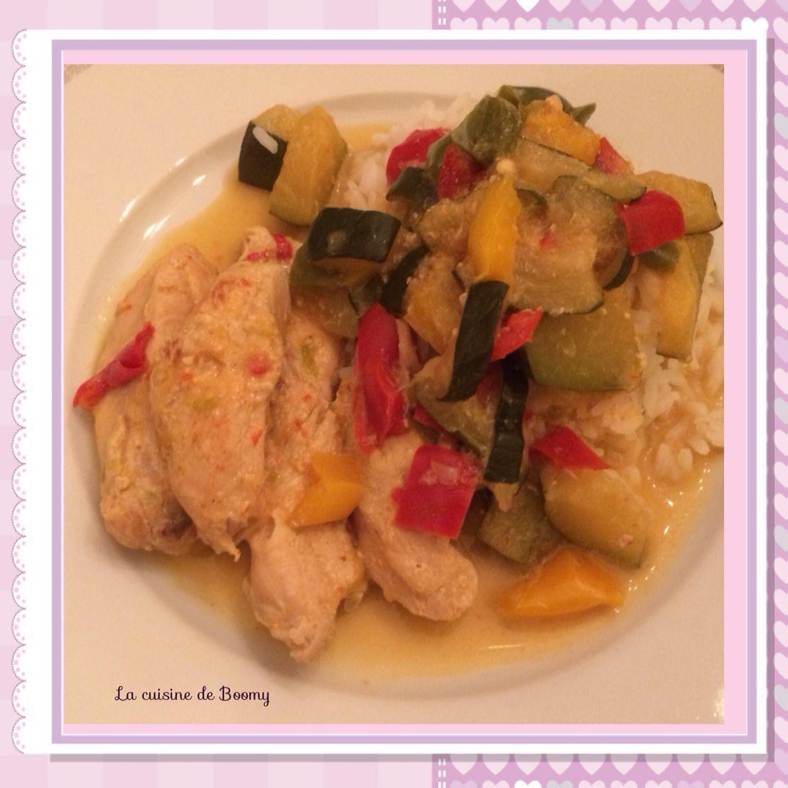 Aiguillettes de poulet aux légumes (Cookeo)