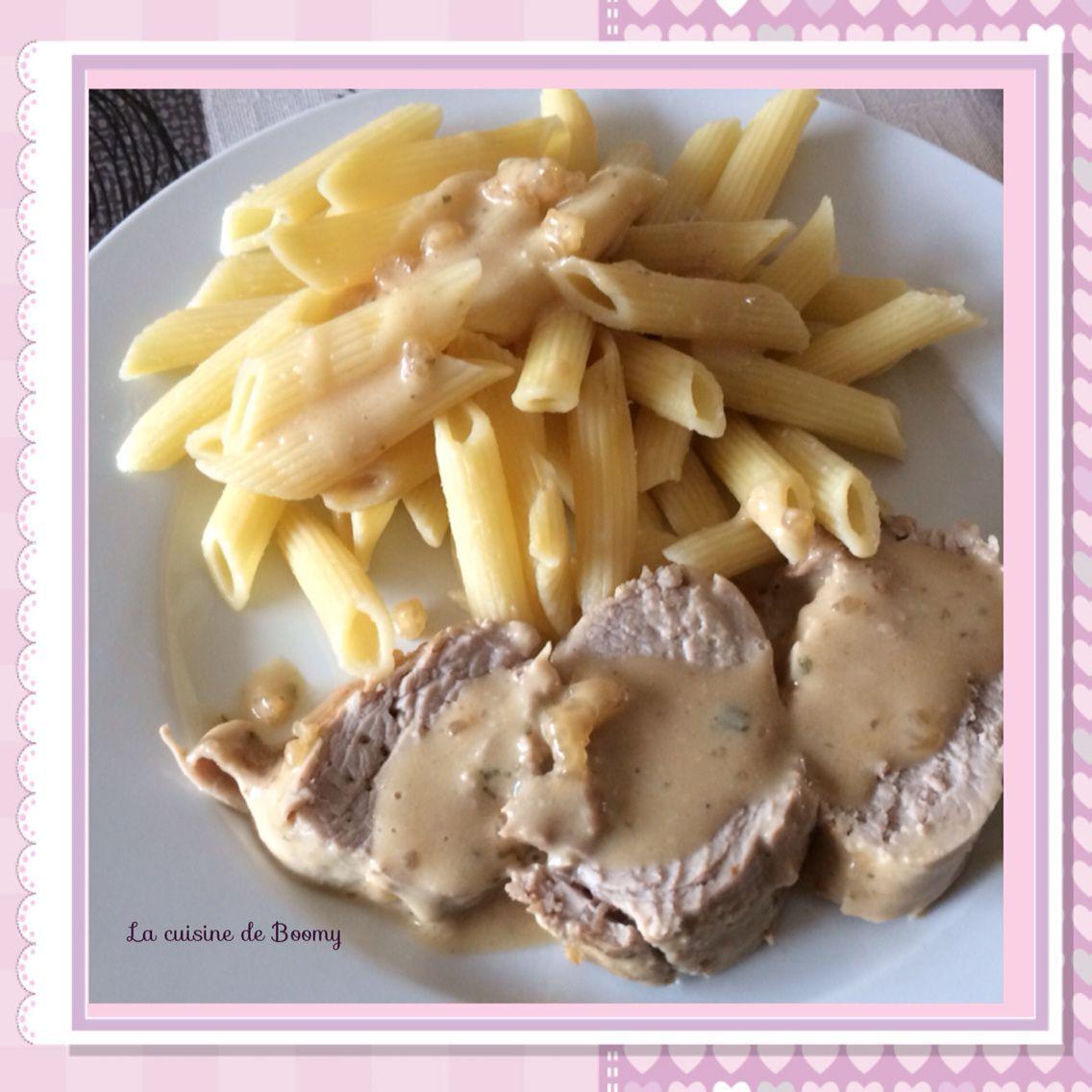 Filet mignon  de porc au boursin (Cookeo)