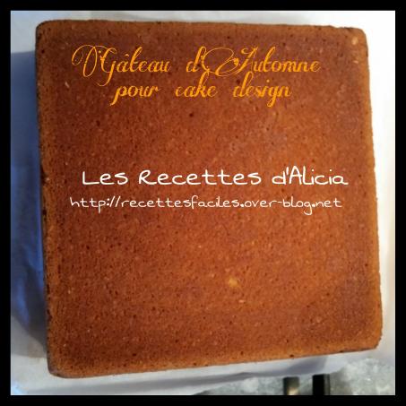 Gâteau d'automne cake design