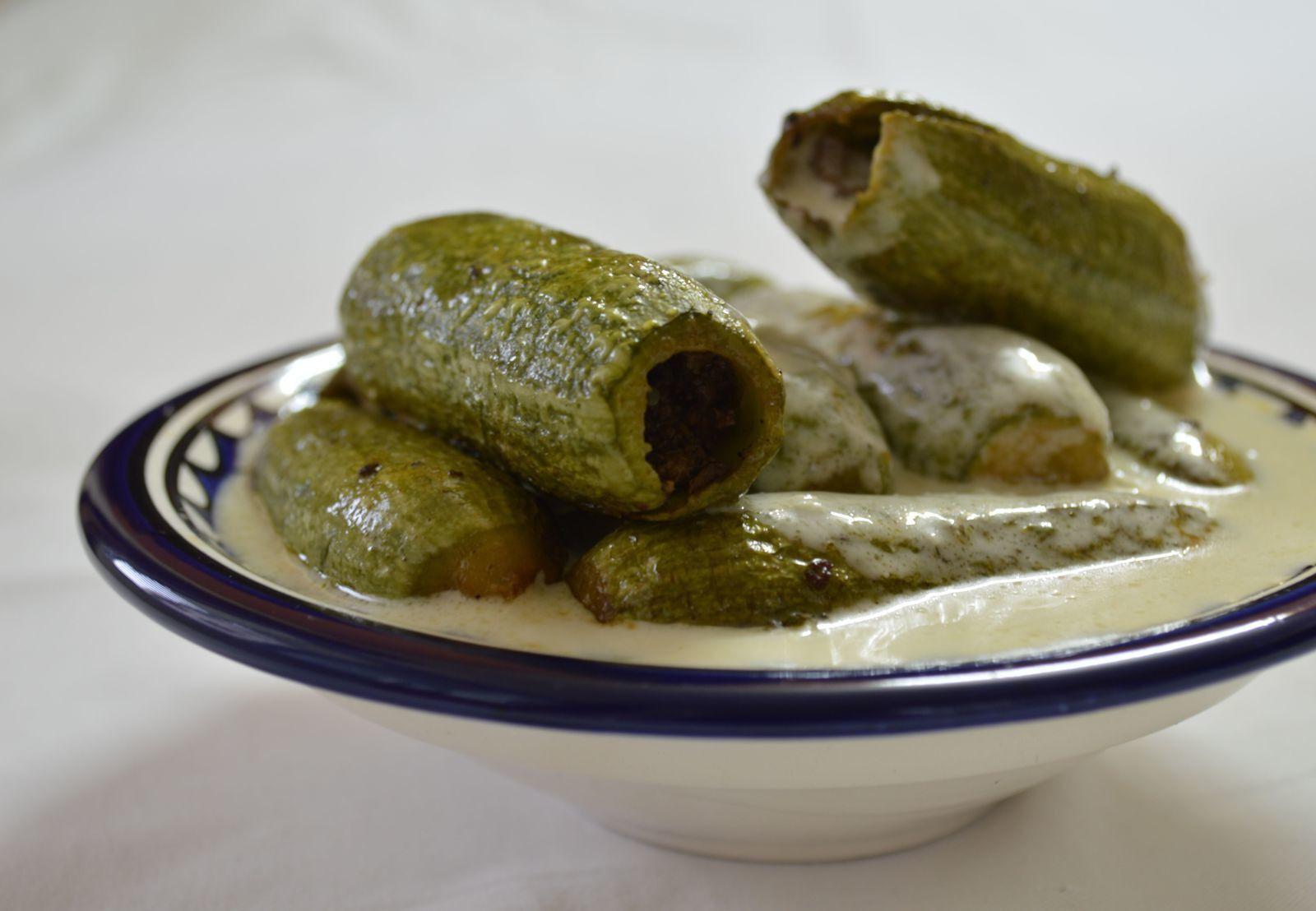 Sheikh al mahashi: courgettes farcies à la sauce yaourt