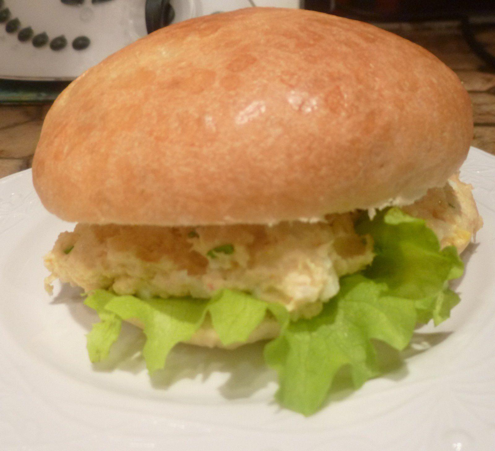petits pains briochés moëlleux pour sandwichs/garniture crabe et garniture thon