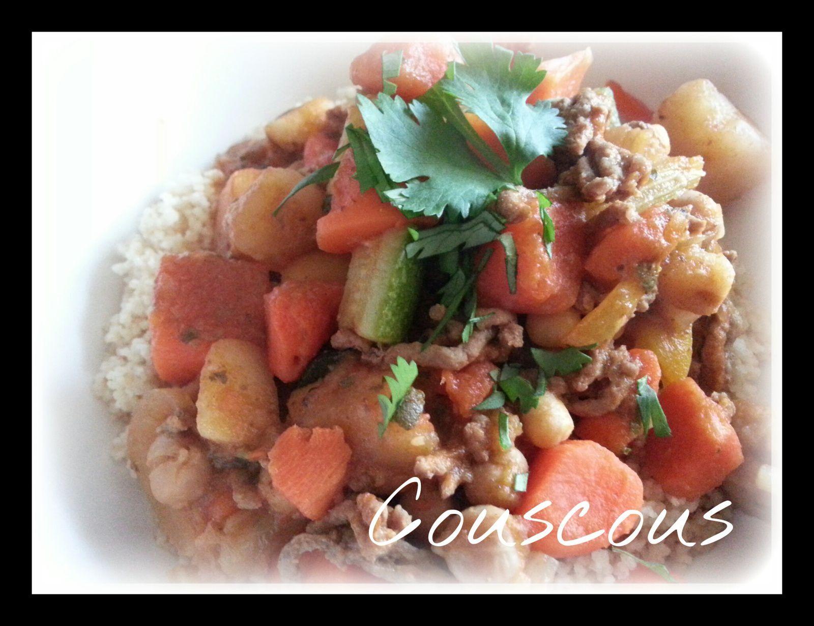 Couscous rapide #weightwatcher# au boeuf et petits légumes