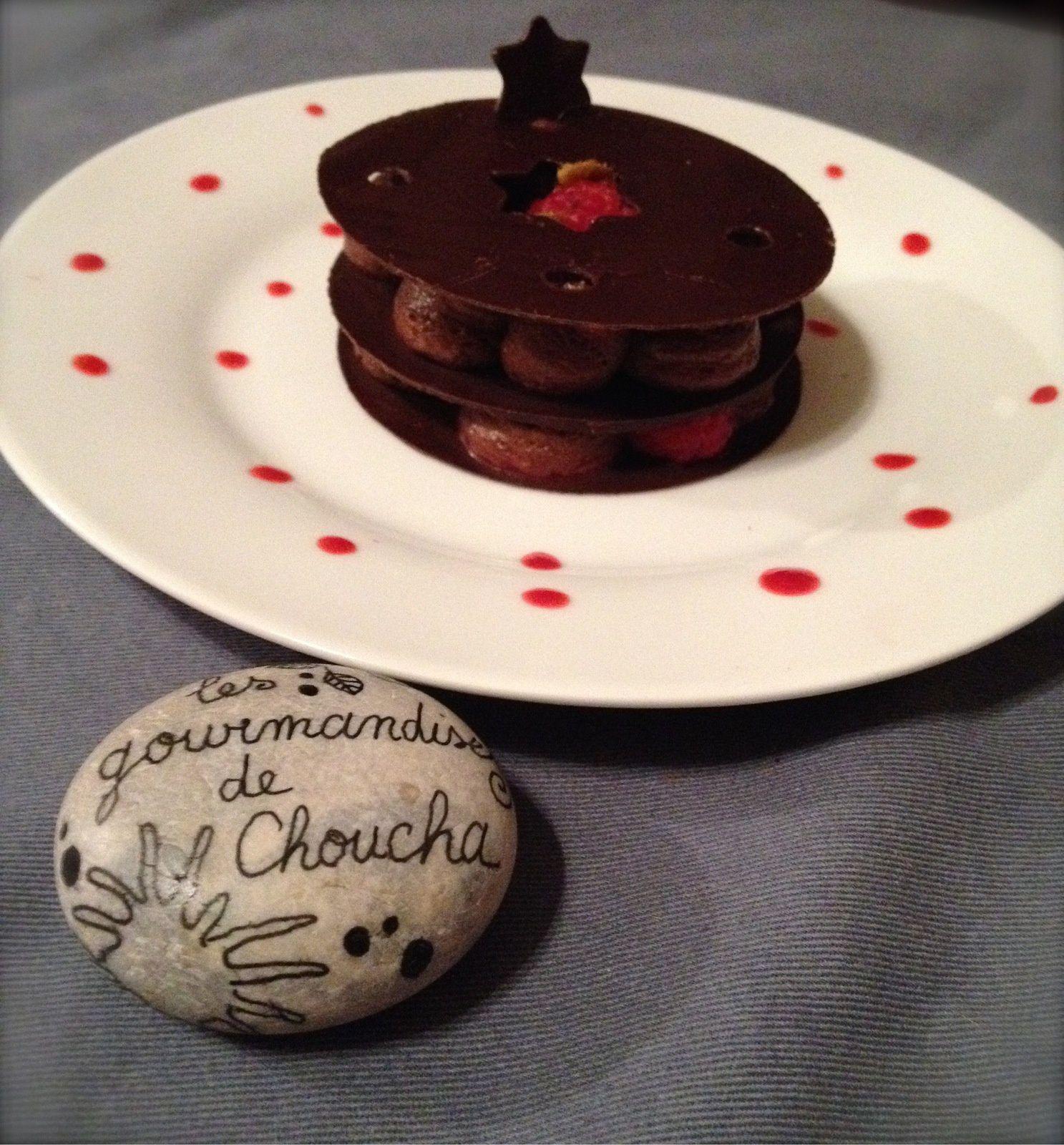 Dessert chocolat framboise