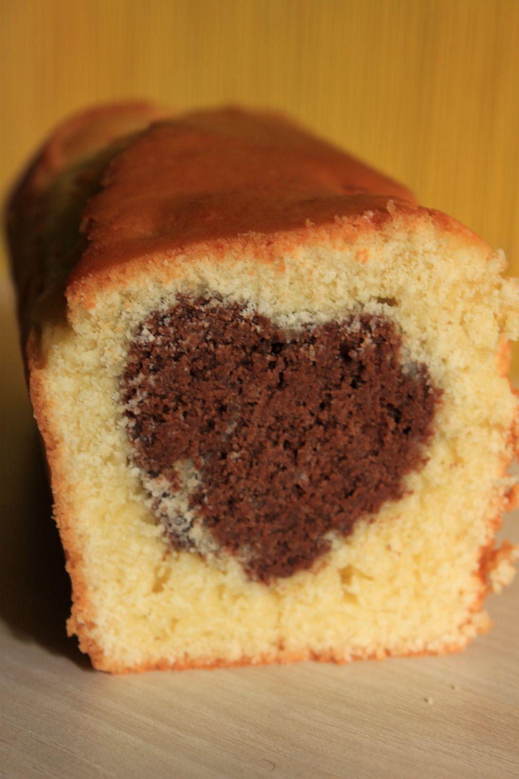 Gateau caché: cake au coeur chocolat