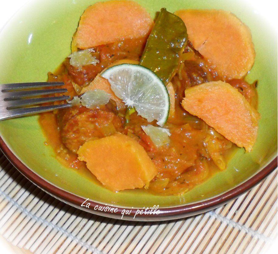 Rougail de saucisse au piment habanero île de la Réunion