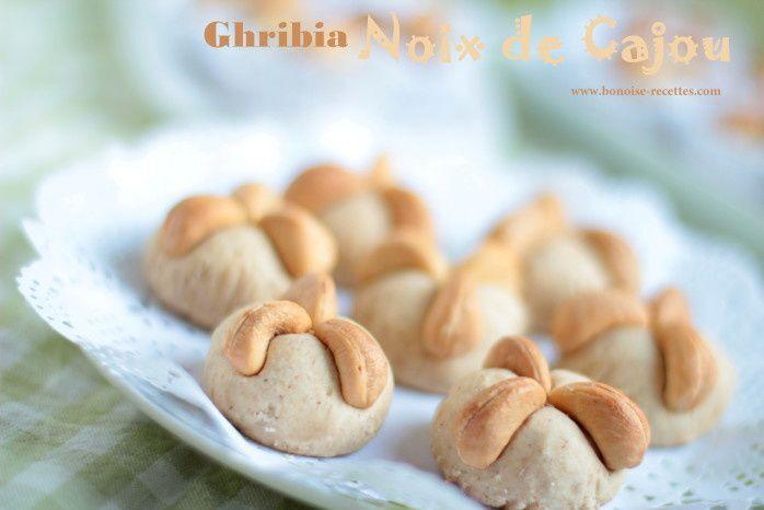 gateau algerien/ghribia aux noix de cajou
