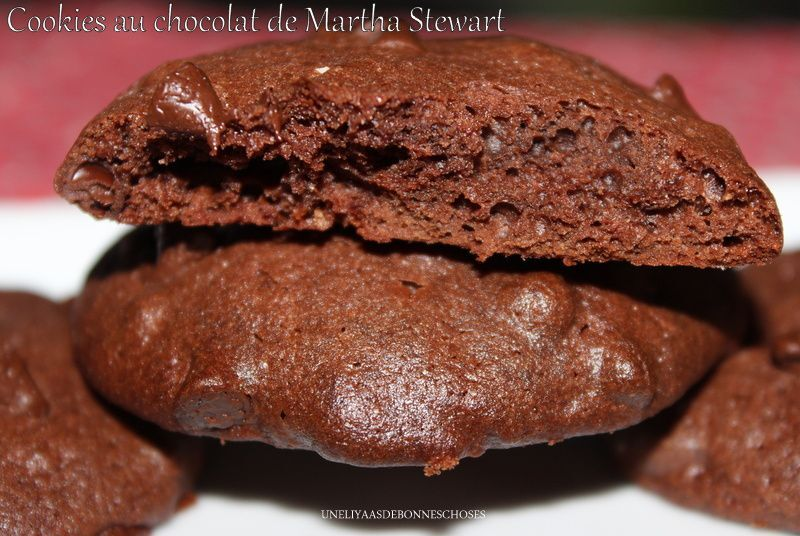 Cookies au chocolat de Martha Stewart(Escapade en cuisine)