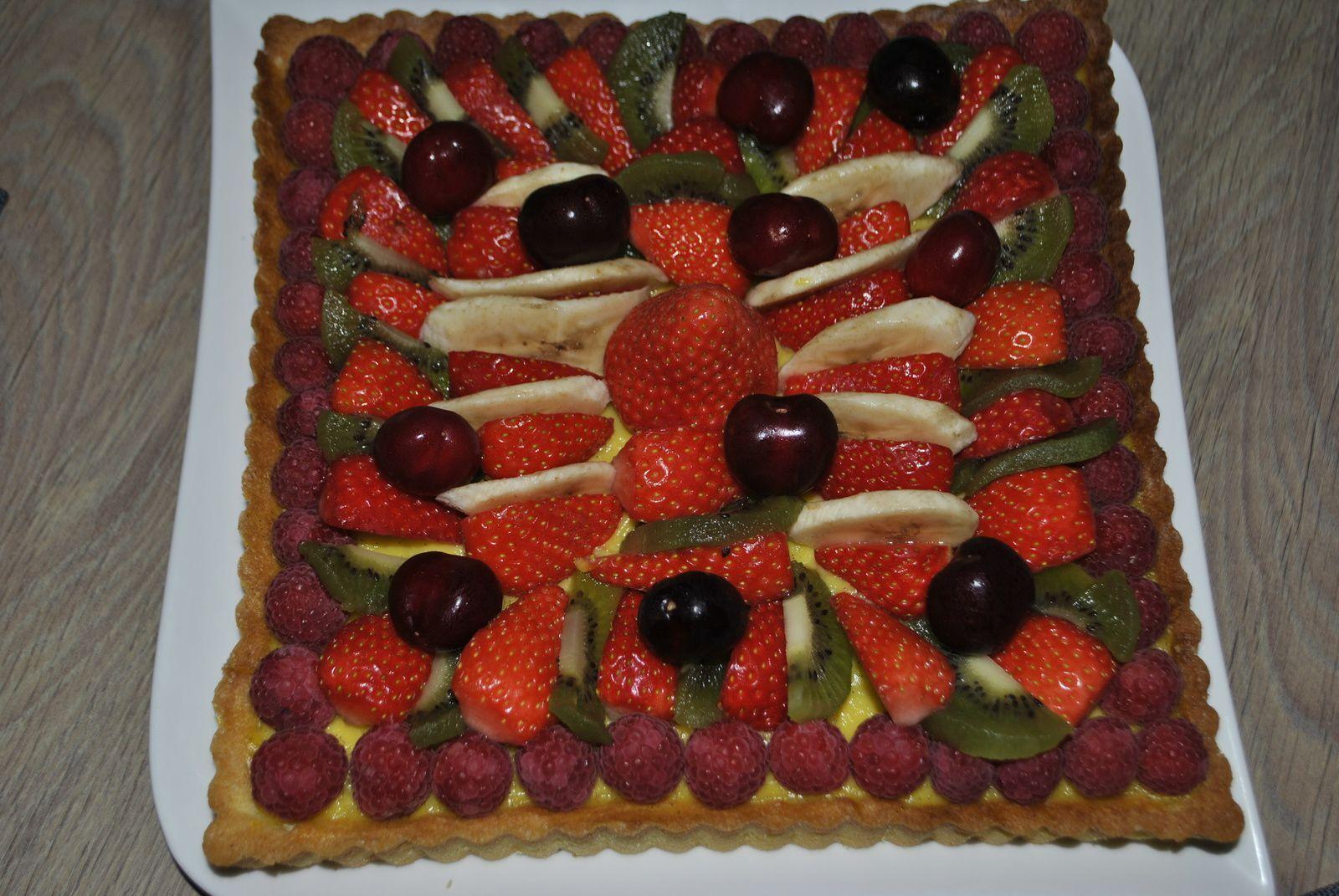 tarte aux fraises creme patissiere mercotte