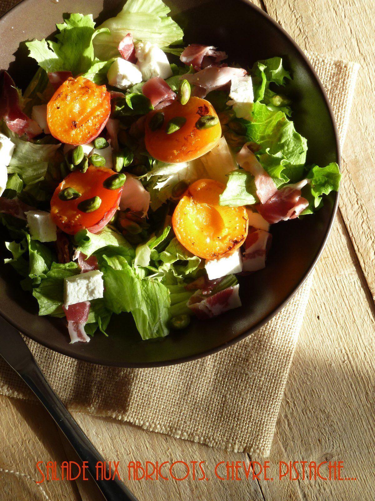 Salade aux abricots rotis, coppa et tout le tralala