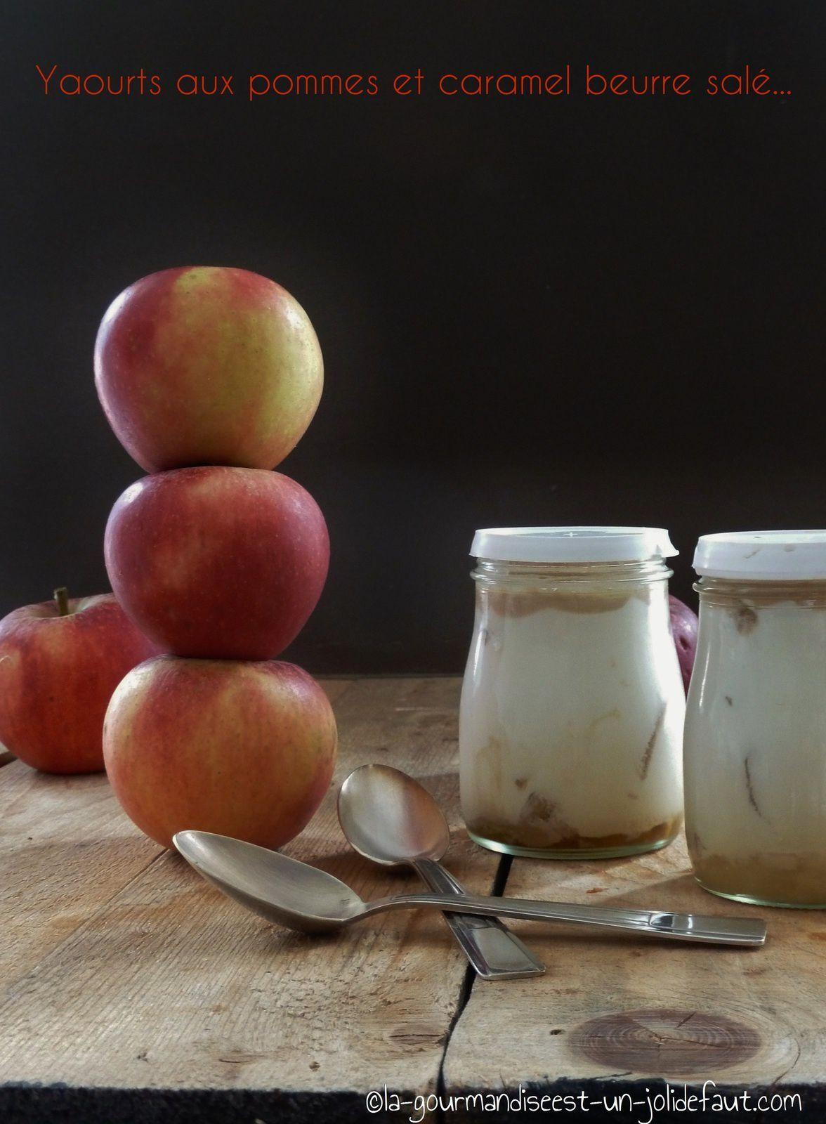 Yaourts aux pommes caramélisées et au caramel au beurre salé