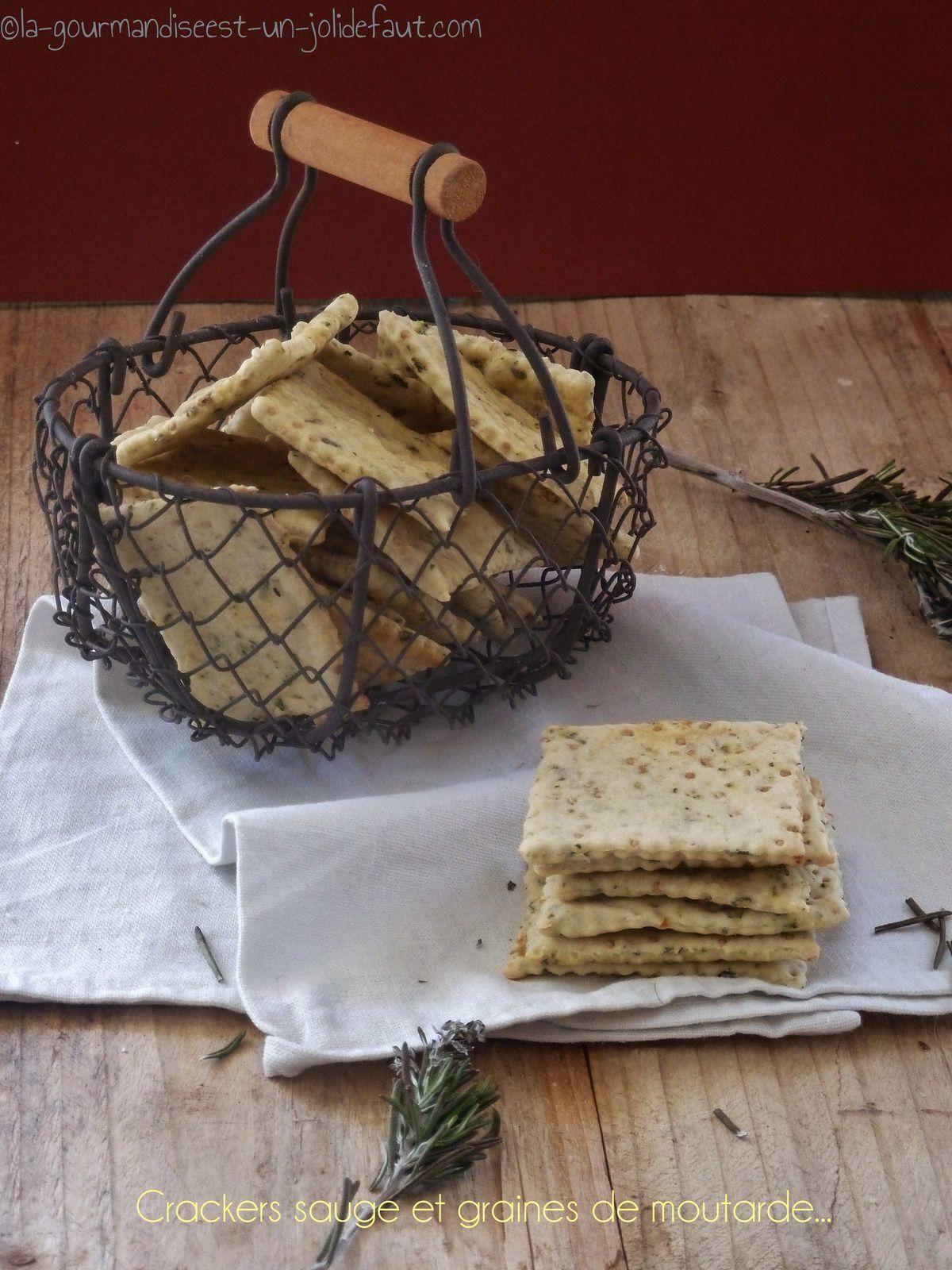 Crackers à la sauge et graines de moutarde
